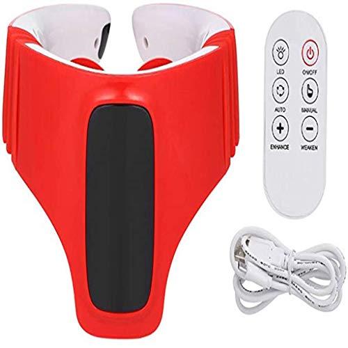 WAJJ Elektrische Smart Neck Massager met Verwarming Functie TF Kaart voor Muziek Therapie Afstandsbediening Draadloze Reishals Massage