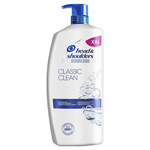 Head & Shoulders Classic Clean Anti Schuppen Shampoo, Pumpspender, Shampoo gegen Schuppen, Juckreiz und Trockene Kopfhaut, Shampoo Herren, Haarpflege, XXL Shampoo Spender, 900 ml