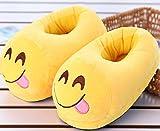 xinghui Pantofole Simpatico Cartone Animato,Morbide Pantofole Invernali,Pantofole di Cotone del Fumetto di Emoji, Scarpe di Cotone Caldo Peluche-Golosi_35-43