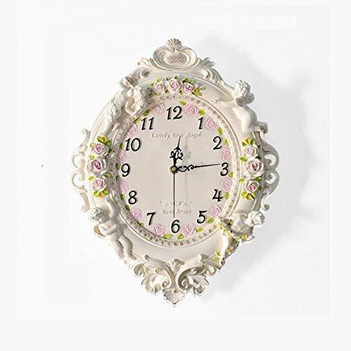 SMEJS Relojes de marcación Modernas, Reloj de Pared Reloj de Pared Redondo Europea Sala de Estar Estudio del Corredor Dormitorio Creativa Manera de la decoración del Arte