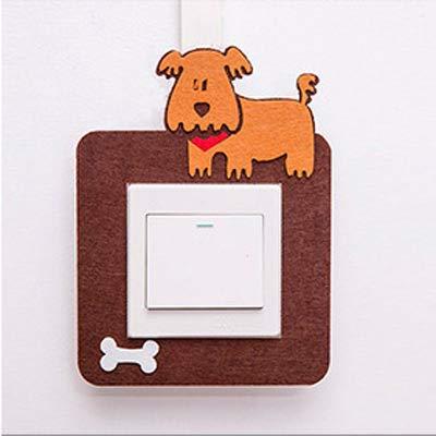 Shiwen Pegatinas de fieltro con interruptor hueco, pegatinas creativas para decoración del hogar, enchufes de fieltro (color: cachorro)