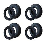 4 Set Reifen+Schlauch 400x100 4.80/4.00-8 Stollen...