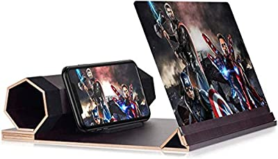 12'' Screen Magnifier for Smartphone – Mobile Phone 3D Magnifier Projector Screen for Movies, Videos, and Gaming – Foldable Phone Stand with Screen Amplifier – Compatible with All Smartphones from dizauL