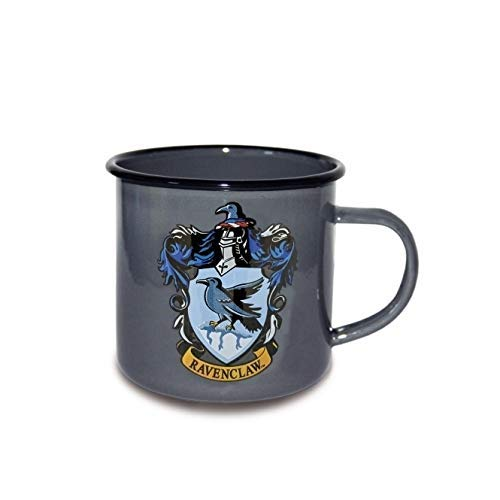 Finoo Harry Potter Kaffeebecher Kaffeetasse Wärmeeffekt Tasse Dobby Geschenk Emaile Gleis Hogwarts Express 9 3/4 Haus Ravenclaw Emaile