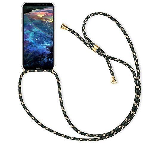 XTstore Funda con Cuerda para Apple iPhone 11 Pro MAX, Moda y Practico Anti-Choque Anti-rasguños Suave Silicona Transparente TPU Carcasa de movil con Colgante/Cadena Cordón Ajustable