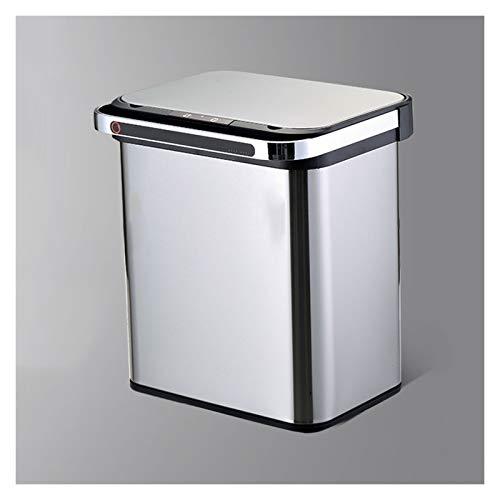 Cubos de Basura Basura de la clasificación de basura de doble capa que puede dominar la papelera inteligente con la tapa del movimiento de la cocina de la cocina de la cocina de la tapa Papelera de Re