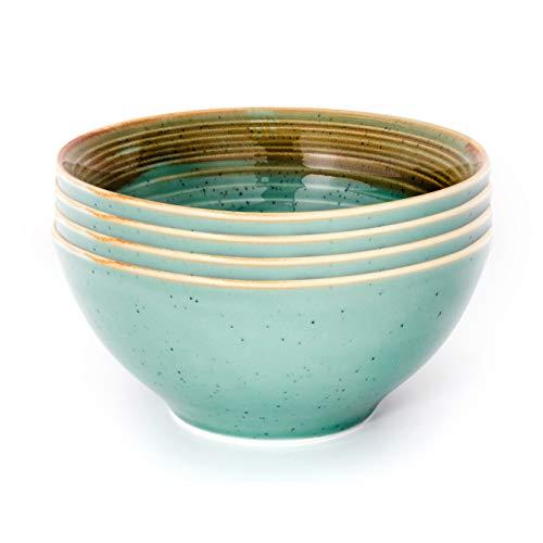 THE CHEF COLLECTION – Set 4 Uds. Bowl Art 15, Colección Art, Bowl, Cuenco, Porcelana Colores, 15,5x15,5x7,0 cm