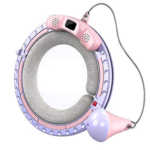 GHP Bluetooth Smart Hula Hoop Reifen Intelligentes Zählen Nicht Fallender Gewichtsverlust Hula Hoop Kann Musik Abspielen Für Anfänger Kinder Erwachsene Fitness Abnehmen Training