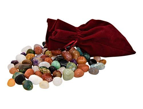74 Edelsteine im schönen Stoffsäckchen - als Ergänzung zu Hus Bao Kalaha