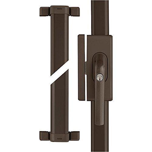 ABUS Fenster-Zusatzsicherung FOS650 AL0125 – Stangenschloss mit Druckzylinder, gleichschließend – Sicherheitslevel 10 – 73010 – Braun