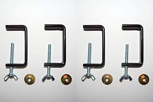 Schraubzwinge Schraubklemme Tischklemme mit Moosgummi 4er Set universal schwarz