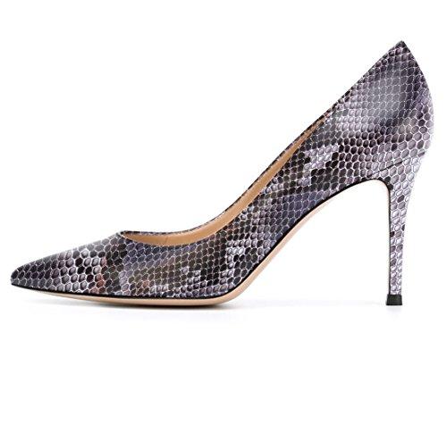 Soireelady Damen Bequeme Pumps,High Heels,Hoher Absatz,Python Purple Größe 37