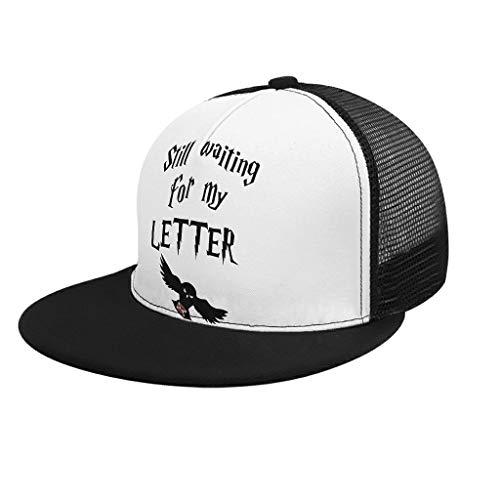 RNGIAN - Gorra de béisbol ajustable para hombre y mujer, diseño de letra, para deportes al aire libre, blanco, adult uniform code
