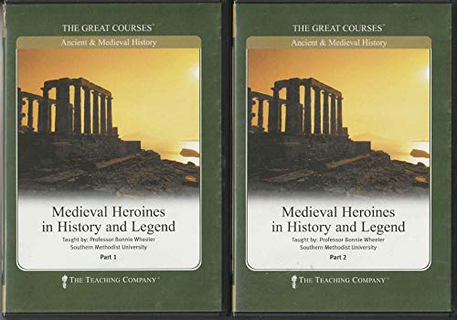 guidebooks 2 The Teaching Company - The Great Courses; Ancient & Medieval History: Medieval Heroines in History and Legend Part 1 and Part 2 (2 Plastic Cases, 2 Course Guidebooks and 12 Audio CDS - 2002)