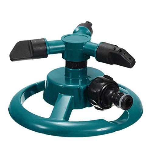 Rasensprenger Sprinklerkopf, Garten Sprinkler 3 Arm mit Auswirkungssprinkler, Einstellbarer Winkel und Abstand für Garten Rasen Bewässerung, Automatische Wassersprenger 360 ° Rotation