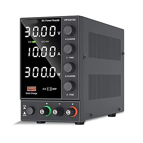 Einstellbare Gleichstromversorgung 30V 10A LED Digital-Laborbank-Stromquelle stabilisierter Stromversorgungsspannungsregler-Schalter