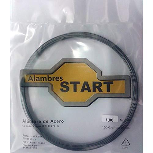 ALAMBRE CUERDA PIANO ALAMBRES START 1MM 100GR AL100100 ACERO