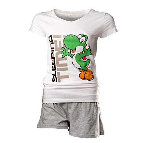 Nintendo Yoshi Sleeping Time Pijama Blanco M