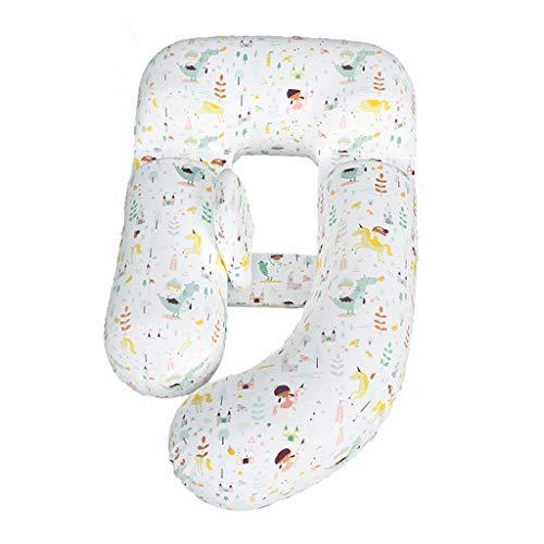 Kussen voor moederschap taille buik ondersteuning zijligkussen tijdens de zwangerschap multifunctionele beenklem U-vormig slaapkussen (kleur: C)