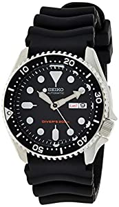 Seiko Men's Automatic Analogue Watch with Rubber Strap