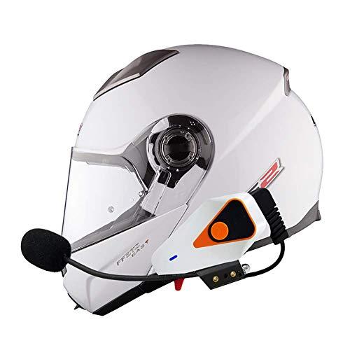 Intercomunicador Casco Moto Auriculares Bluetooth para Motocicleta, Bluetooth 3.0 Manos Libres Radio FM Impermeabilidad Gama Comunicación Intercom de 1000m Montar a Caballo y Esquí