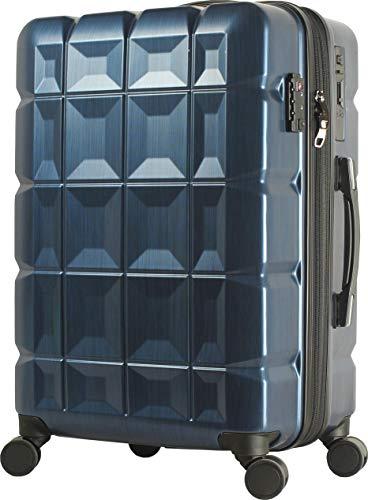 スーツケース 目立つボディ ダイヤルロック 拡張 容量アップ ファスナー タイヤロック ストッパー 日乃本 ヒノモト 静音 高級感 ビジネス 出張 国内 YKK ハードケース キャリーバッグ S SS BASILO-727 hinomoto (Mサイズ,