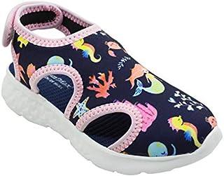 KazarMax Boys & Girls (Unisex) Mermaid Print Navy Lycra Sandal