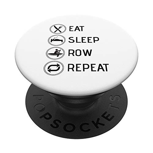 Eat Sleep Row Repeat Boys Girls Rowing-Team Gift Men Woman PopSockets PopGrip: Swappable Grip for Phones & Tablets