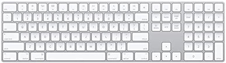 Apple Magic Keyboard with Numeric Keypad (Wireless, Rechargable) (US English) – Silver