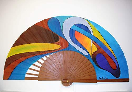 Abanico español/Abanico pintado a mano/Abanico flamenco/Abanico de madera/Abanicos Sevilla