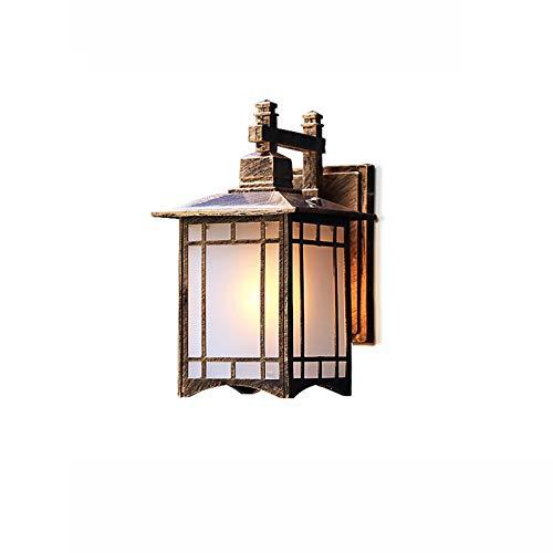 Lámpara de pared Lámparas de pared al aire libre Linturas de pared Linterna impermeable Aplique Sconte Pórchico Luces Montaje de pared con tono de vidrio de agua para casa Lámparas de pared pa