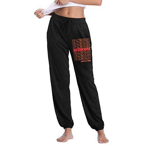 Lsjuee Seniors 2020 Mujeres Otoño Invierno Pantalones Largos Pantalones de chándal Pantalones Casuales Pantalones de chándal