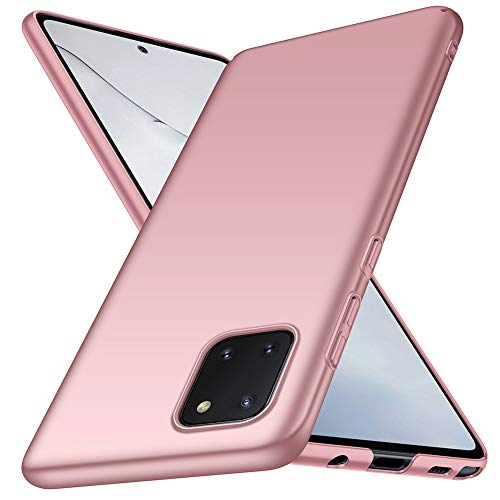 ORNARTO Funda Samsung Note 10 Lite, Carcasa [Ultra-Delgado] [Ligera] Mate Anti-arañazos y Antideslizante Protectora Sedoso Caso para Samsung Note 10 Lite(2020) 6,7 Pulgadas Oro Rosa