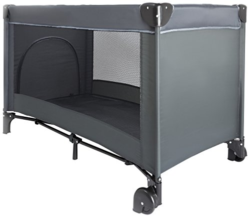Nattou na10642 – Lit de Voyage Pliable avec roues, couleur gris