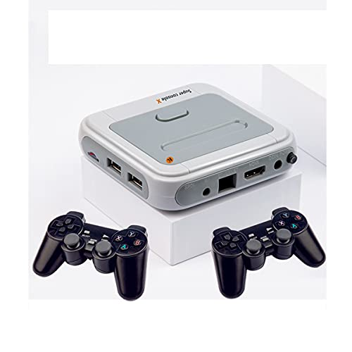 \t Trade Foreign R8 Wireless Dual Manand Home Game Console 30000+ Juego Emulator PSP Game HD PS1N64 Host 64G