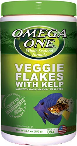 Omega One Veggie Flakes with Kelp 5.3 oz Container