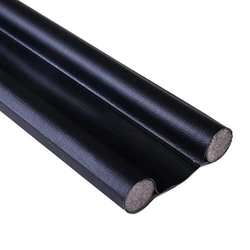 S-L Burlete Puerta Puerta Flexible del Fondo de Sellado de la Tira de la Tira Delantera Delantera Delantera burletrip Protector de Bloqueador de Polvo de Viento (Color : Black)