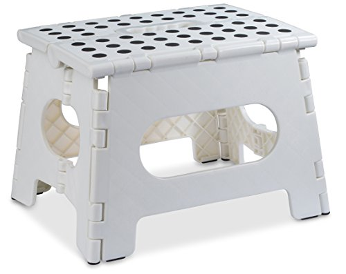 Folding Step Stool - The Lightweight Step Stool is Sturdy...