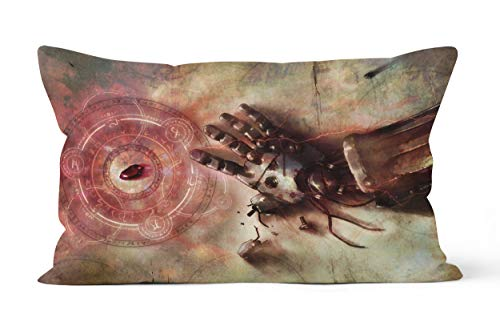 Funda de almohada Fullmetal Alchemist Brotherhood de regalo de 50 x 75 cm, suave y cómoda.