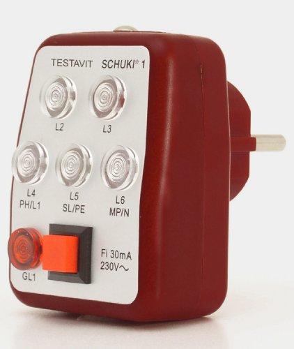 Testboy Testavit Schuki 1 Steckdosenprüfgerät Testavit Schuki 1, optische Anzeige, mit Fi Auslösung