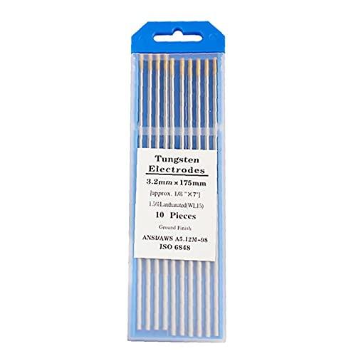 """Tungsteno varillas de soldadura TIG de tungsteno agujas lantano electrodos de tungsteno 3/32"""" Herramientas de soldadura de oro Cabeza WL15 electrónico"""