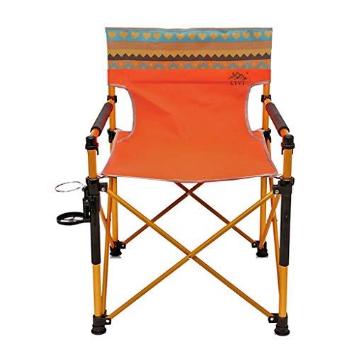 LIN HE SHOP Chaise Pliante extérieure, Chaise de Dossier Pliante de Plage portative, pêche, Camping, Sieste, Tissu Oxford, Chargement 130KG, 82 × 56CM