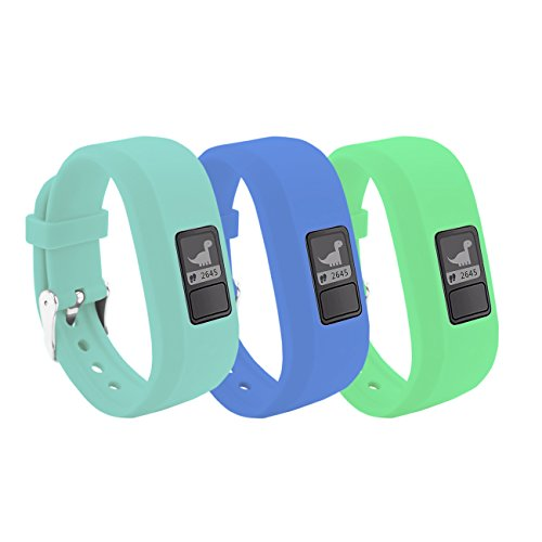 BeneStellar 12 Colors Garmin Vivofit JR/Vivofit JR. 2 Bands with Secure Watch Clasp Silicone Replacement Bands for Garmin Vivofit JR