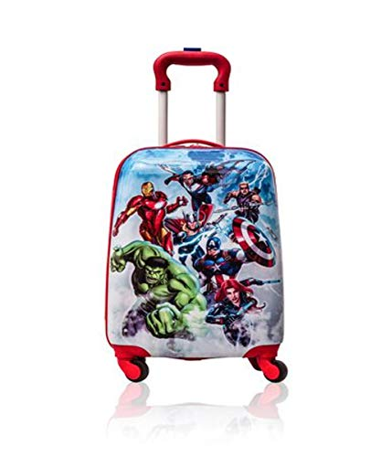 Marvel Avengers Hardshell Spinner Trolley 18 Inch Kids Luggage [Blue]