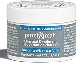 Natural Deodorant with Activated Charcoal Powder | For Men & Women | Long-Lasting, EWG Verified, Vegan, Aluminum Free, Cruelty-Free, No Aluminum, No Parabens, BPA Free | Unscented by Purelygreat