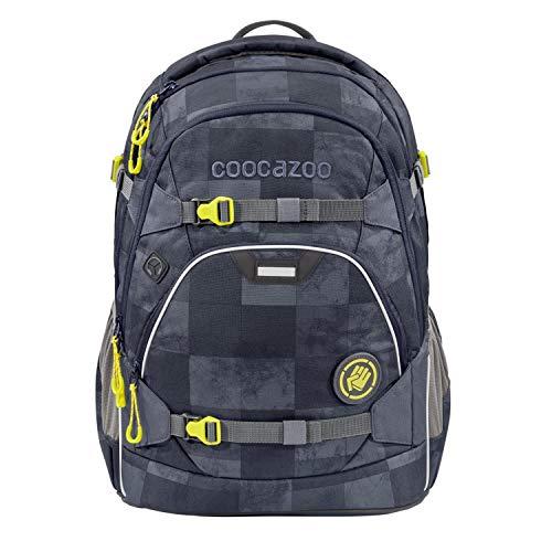 """coocazoo Schulrucksack ScaleRale """"Mamor Check"""" grau-schwarz, ergonomischer Tornister, höhenverstellbar mit Brustgurt und Hüftgurt für Jungen ab der 5. Klasse, 30 Liter"""