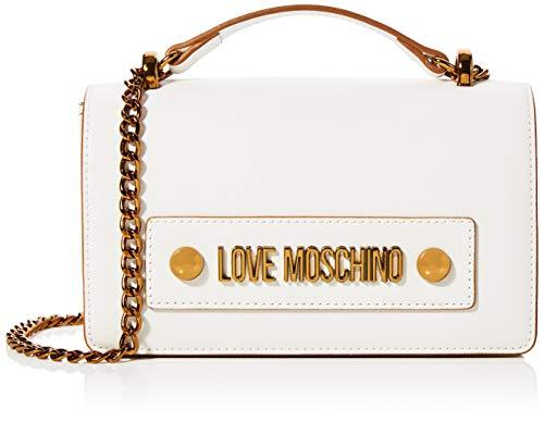 Love Moschino Damen Jc4022pp1a Umhängetasche, Weiß (Bianco), 7x13x27 Centimeters