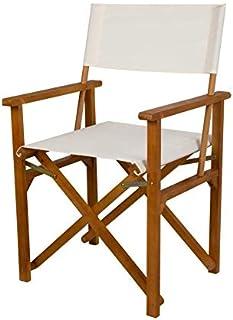 Aktive 61025 - Silla plegable director madera acacia Garden 555 x 49 x 88 cm