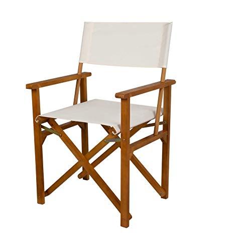 Aktive 61025 - Silla plegable director madera acacia Garden 55,5 x 49 x 88 cm