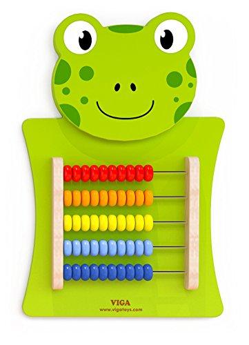 VIGA VIGA-50679 Toys 50679-Juego de Pared (diseño de Rana, Abacus), Multicolor (50679)